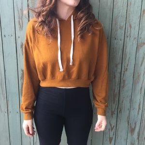 3 FOR $15 Forever 21 Cropped Rust Hoodie